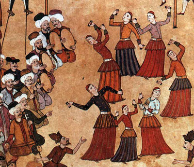 Köçek Dancers, miniature from the Surname